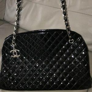 Chanel Mademoiselle Bowling Black Patent XL